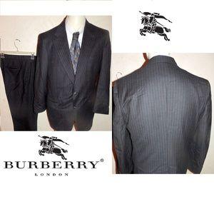 Burberry-039-s-Men-039-s-Black-Pinstripe-100-Wool